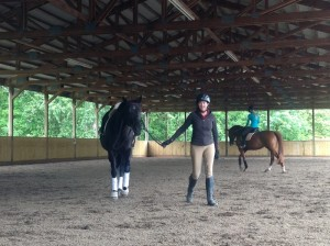 I love riding and learning, so it is always easy to smile for the camera at such occasions!