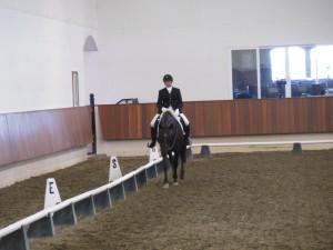 Carrie Allen riding Esmerelda
