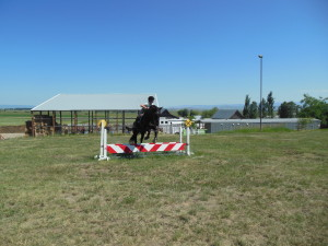 Jumping clinic with Carrie Allen