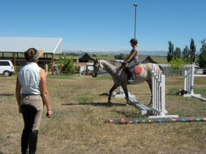 Carrie Allen Teaching jumping to horses and humans